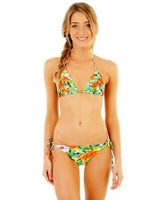 + TAG BILLABONG WOMENS (14) MIX UPS BIKINI SET PADDED MAUI TRI TOP BAJA PANT