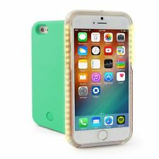 Nuovo di zecca Green Bright LED accendere Selfie CASE COVER PER APPLE IPHONE 6 6 S Plus UK