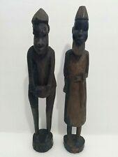 "Vintage Wooden African Ethnic Genuine Warriors Hand CarvedKenya Sculpture 14.5"""