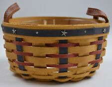 Longaberger 2004 Proudly American Button Basket Combo With Protector Home Decor