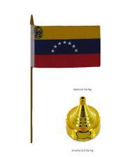 """Wholesale Lot of 12 Venezuela 8 Star 4/""""x6/"""" Table Stick Desk Flag"""