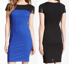 Donna Morgan Knit Pique Seamed Bodycon Dress COBALT/BLACK, 12R - MSRP $130