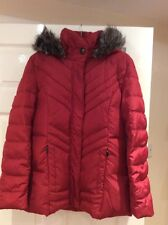 Bnwot Centigrade Down&Feather Quilted Jacket Scarlet Red Size Xs (10-12)