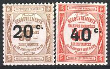 "FRANCE STAMP TAXE 49 / 50 "" 2 TIMBRES SURCHARGES "" NEUFS xx LUXE   M966"