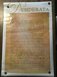 Desiderata Poem Max Erhmann Glossy Poster Athena Int'l 1991