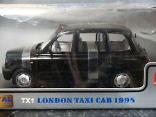 Sun Star 1998 TX1 London Taxi Cab Black 1:18 Scale Diecast Model Checker Car