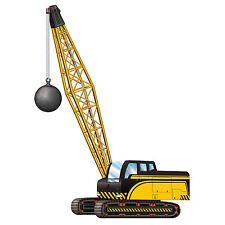 "38"" Jointed Cutout Construction CRANE Wrecking Ball  Birthday Party supply decor"