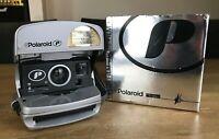 Polaroid P 600 Instant Film Camera BOXED - Silver Flash Retro Vintage TESTED