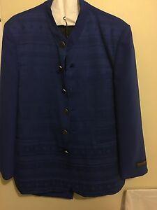 Pontelli Uomo Collection By Supreme Royal Blue Color Men's Suit- Size 42R;