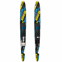Airhead AHS-1300 67 Inch Fiberglass Adult Adjustable Combo Water Skis, Black