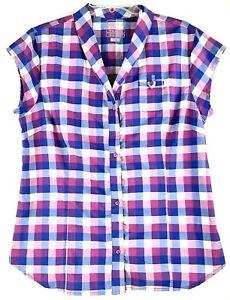 Merrell Opti Wick 30+ UPF Womens Large Button Down Cap Sleeve Quick Dry Shirt