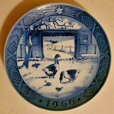 Royal Copenhagen 1969 In the Old Farmyard Plate 7 1/4""