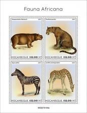 More details for mozambique 2021 mnh wild animals stamps african fauna hippos zebras giraffes 4v