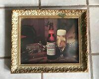 Anheuser Busch Framed Vintage Budweiser Advertising Display Beer Horses