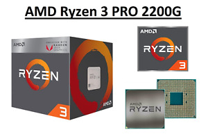 AMD Ryzen 3 PRO 2200G Quad Core Processor 3.5 - 3.7 GHz,Socket AM4, 65W CPU Only