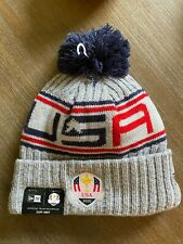New listing 2020 Ryder Cup USA Gray New Era Knit Pom Hat Golf Whistling Straights 2021