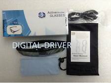 2 PAIRS FOR PANASONIC 3D ACTIVE GLASSES TY-ER3D4MA TY-ER3D4M w/Build In Battey