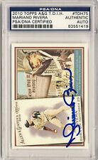 MARIANO RIVERA 2010 Topps Allen & Ginter #TDH75 SIGNED AUTO CARD PSA/DNA YANKEES