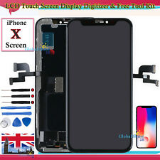Black Screen For Apple iPhone X 10 LCD Touch Digitizer Assembly Display Frame UK