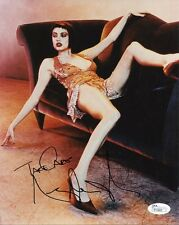 ANGELINA JOLIE HAND SIGNED 8x10 COLOR PHOTO      YOUNG+VERY SEXY POSE       JSA