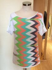 Aldo Martins Knitted Top Size 12 BNWT Cream Lime Aqua Apricot RRP £104 NOW £26