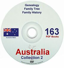 Family History Tree Genealogy Australia Volume 2 NEW Collection DVD 163 Books