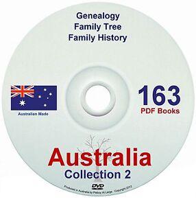 Family History Tree Genealogy Australia Volume 2 NEW Collection DVD 163 Books