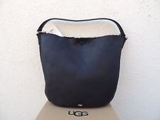 UGG CLAIRE BLACK BOMBER SHEEPSKIN HOBO PURSE ~ NWT & DUSTBAG ~ GREAT FOR FALL