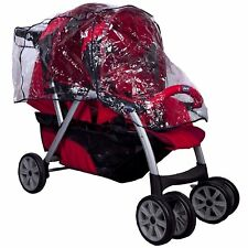 NEW Universal Strong Transparent Film RAIN COVER BABY PRAM BUGGY Stoller Twin