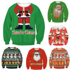 Womens Mens Trump Ugly Xmas Christmas Novelty Jumper Santa Face Jumper Sweater