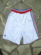 Short basket EQUIPE DE FRANCE ADIDAS blanc bandes tricolores XXL 2XL