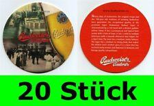 20 Stück Bierdeckel Budweiser Budvar Tschechien für Bar  Party Theke Tresen #