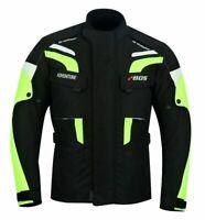 Motorrad Textiljacke Schwarz Gelb Jacke Motorradjacke Quad Roller Jacke Gr S-5XL