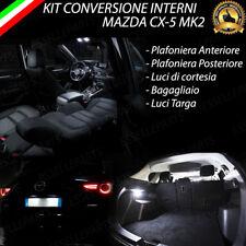 KIT FULL LED INTERNI MAZDA CX-5 CX5 MK2 CONVERSIONE COMPLETA + LUCI TARGA 6000K