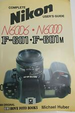 Nikon N6006 N6000 F-601 Camera User's Guide Owner Instruction Manual