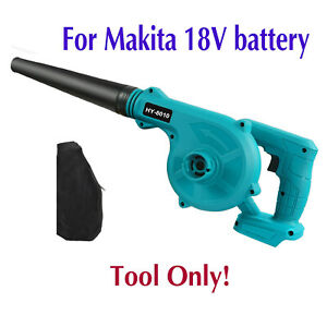 For Makita 18V Lithium Ion Battery 2 in 1 Cordless Leaf Dust Blower Vacuum Tool
