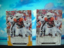 MALCOLM BROWN RB(TEXAS) 2 CARD ROOKIE LOT(w/1 Gold Parallel) MINT CONDITION !