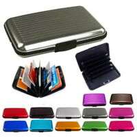 Aluminum ID Credit Card Holder IMS RFID Blocking Thin Protector Wallet Case fghs