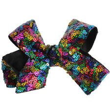 Beauty Baby Girls Large Sequin Hair Bow Alligator Clip Headwear Hair Accessories