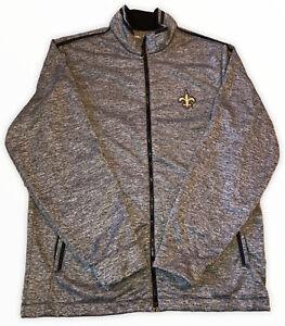 New Orleans Saints Size Large Jacket Full Zip Gray NFL Football