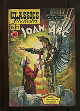 CLASSICS ILLUSTRATED #78 1ST PRINT JOAN OF ARC (6.0) DOUBLE COVER! RARE!!