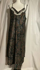 Gilligan O'Malley Long Satin Nightgown Multicolor XL/XXL