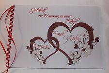 Gästebuch zur Hochzeit, rot