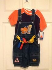 NWT 5t Bob the Builder bibs overalls Halloween costume shorts