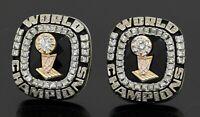 Jostens heavy 14K WG 9.16CTW VS diamond NBA Miami Heat World Champions cufflinks