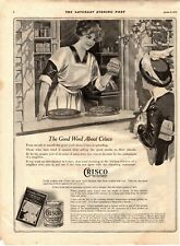 1915 ORIGINAL VINTAGE CRISCO VEGETABLE SHORTENING (COOKING OIL) MAGAZINE AD