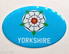 YORKSHIRE Drapeau Dome gel ovale Sticker Voiture Anti-Chocs Autocollants