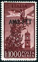 AMG-FTT - 1952 - Posta Aerea Lire 1000 - Sdent.14x13 1/4 - MNH - n.26A