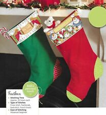 Cross stitch chart personalised Christmas stockings 4 designs 909