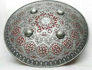 Mughal Persian Shield Dhal Fine Hand Engraved Pierced Battlefield Costume gift